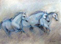 """Tres Amigos"" original painting."