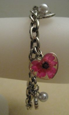 Charm Bracelet with Hearts by cvaccessories on Etsy, $10.00