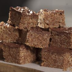 Chocolate and caramel make these Mars Bar Rice Crispy Squares your new favorite dessert.