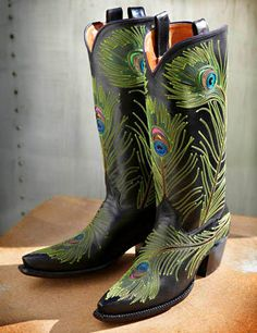 Purdy Peacock Boots. ROCKETBUSTER HANDMADE CUSTOM BOOTS, The Official Website | wings & feathers