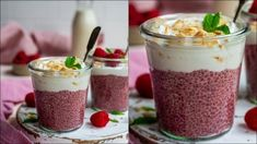 Coconut Chia Pudding, Coconut Yogurt, Smoothie Drinks, Healthy Smoothies, Sunday Breakfast, Pure Maple Syrup, Big Bowl, Superfood, Raspberry