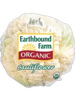 Eat your veggies!  Finding coupons on healthy foods can be tough, but here's one you may enjoy: Save $1.00 OFF Earthbound Farm® Organic Cauliflower.