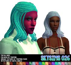 hey look! more hairs! :D information. 4 more skysims meshes, 2 of which i gender converted, the other 2 of which were already converted by other cool simmers. :3 also new preview pictures template! i...