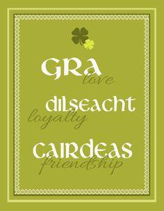 prev. pinner: For my Gaelic children.