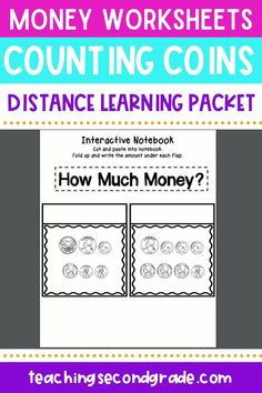 Use this 48 page resource with your 1st, 2nd, or 3rd grade classroom or home school students. These printable money worksheets are great for review, morning work, seat work, math centers or stations, homework, assessment, and more. Counting money will be a breeze. Students will identify coins, count coins, make amounts match, fill in a chart, balance amounts, match amounts, practice greater than and less than, and more! #secondgradeactiviites #countingmoney #mathworksheets Counting Coins, Counting Money, Money Worksheets, Teaching Second Grade, 3rd Grade Classroom, Greater Than, Interactive Notebooks, Math Centers, Homeschool