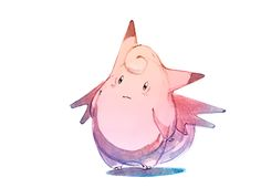 Watercolor Pokemon | Clefable ! by Nicholas Kole, via Behance