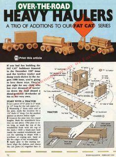 Ah! E se falando em madeira...: Brinquedo: Caminhão articulado