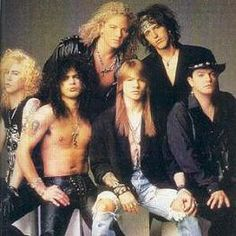 """""""Guns N' Roses on the cover of Rolling Stone Mag, Issue 612, September 1991."""""""