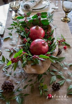 Natural Rustic Christmas Table