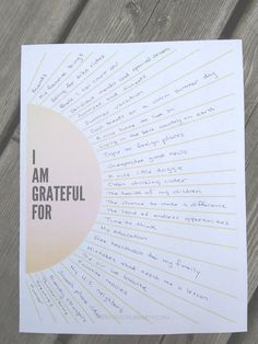Gratitude Worksheet - How to Use a Sunburst Gratitude Worksheet