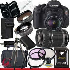 Canon T3i 18-55 55-250 Canon EOS Rebel T3i 18 MP CMOS Digital SLR Camera w/ 18-55mm IS II & 55-250 IS II Lens Kit Package 6