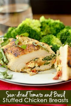 Gluten-free Sun Dried Tomato and Basil Stuffed Chicken Breasts are easy…