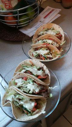 Chef chris benshetlers gyros with cilantro avocado yogurt modelo carne asada whaaaaat