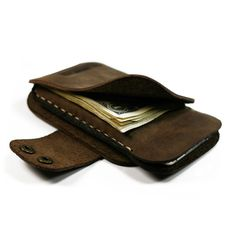 iPhone Leather Wallet iPhone 5 leather sleeve hand by AtelierPall, $44.99