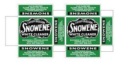 Snowene vintage soap mini printable