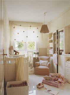 white and cream nursery...