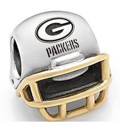 Green Bay Packers #Pandora helmet charm. Click to order!