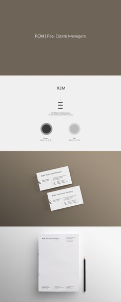 REAL ESTATE MANAGERS - Honrath & Esterházy - We Design Brands Branding Design, Management, Real Estate, Cards Against Humanity, Real Estates, Corporate Design, Identity Branding, Brand Design