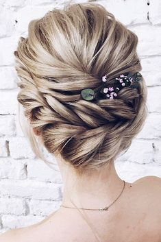 pinterest wedding hairstyles braided crown decorated with flowers lenabogucharskaya via instagram