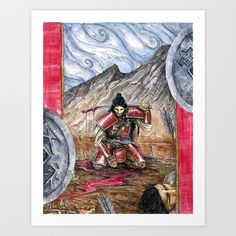 Ronin Art Print by KrasneTigritsa. Worldwide shipping available at Society6.com. Just one of millions of high quality products available.