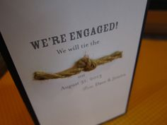 We will tie the knot!