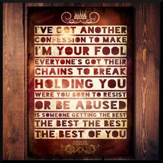Foo Fighters Dave Grohl Rock Music Lyrics Poster Print Wall Word Art Design Gift in Music, Music Memorabilia, Rock | eBay #foofighters #davegrohl #rockmusic #rockposter #lyricsposter #typography #musicoyrics #foofighterslyrics #nirvana  #song #quoteprint #quotes #prints #designs #rocknroll #metal #indie #rockband