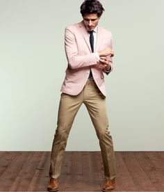 I wouldn't mind a pink blazer. But not before a navy.