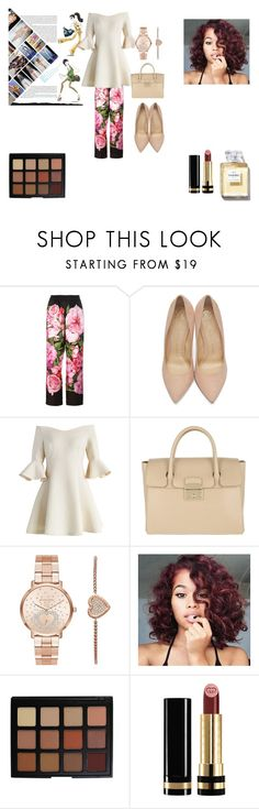 """Monday code 2"" by blue4828 ❤ liked on Polyvore featuring Dolce&Gabbana, Charlotte Olympia, Chicwish, Furla, Michael Kors, Morphe and Gucci"