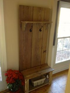 Hall Tree | Do It Yourself Home Projects from Ana White. Maybe I can use the leftover boards from our outdoor table