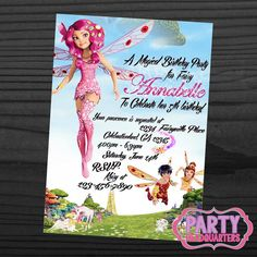 PRINTABLE INVITATION  Mia And Me  Birthday by PartyHeadquarters, $10.99