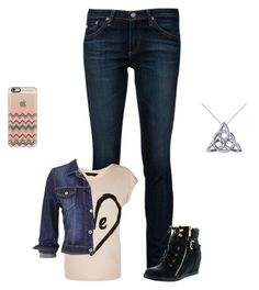 """""""Sans titre #735"""" by harrystylesandliampayne ❤ liked on Polyvore featuring AG Adriano Goldschmied, maurices, Top Moda, Casetify and Allurez"""