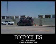 Just for #laughs... the attack of the #bicycles