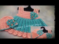 Crochet Baby Girl Crochet Baby Dress month(part - Crochet Baby Blanket Beginner, Baby Girl Crochet, Crochet Baby Booties, Easy Crochet, Baby Dress Patterns, Crochet Patterns, Baby Dress Tutorials, Crocodile Stitch, Crochet For Beginners
