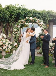 Floral arbor - this whole wedding is gorgeous