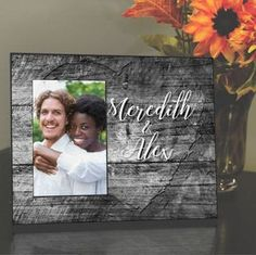 You and Me Personalized Frame for Couples Personalized Picture Frames, Personalised Frames, Unique Gifts For Couples, Couple Gifts, Personalized Housewarming Gifts, Man And Wife, Wedding Keepsakes, Got Married, You And I