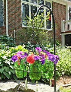 DIY Flower Planter Chandelier