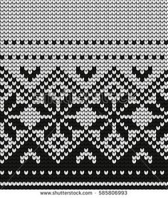 Knitted winter Christmas and New Year pattern