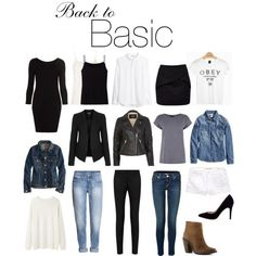 back to basic: les essentiels de la garde-robe
