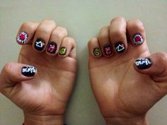 The Beatles Red Hot Chili Peppers Pink Floyd Rolling Stones Nirvana Nails