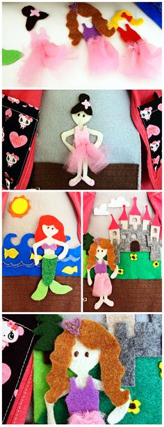 ADORABLE quiet book dress-up page