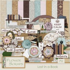 Lost In A Book - $2.79 : Digital Scrapbooking Studio