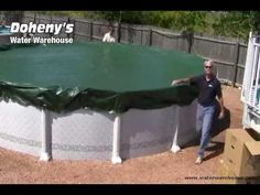 Video: How to properly install your winter pool cover this season. Above Ground Pool Pumps, Above Ground Pool Cover, In Ground Pools, Installing Above Ground Pool, Best Vlogging Camera, Winter Pool Covers, Solar Pool Cover, Pool Supplies, Swimming Pools