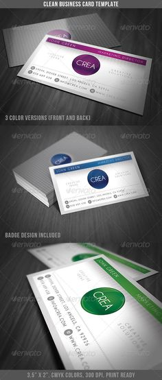 Clean Style Business Card