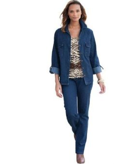 Jessica London Plus Size Relaxed Denim Set Denim,20 Jessica London. $59.99