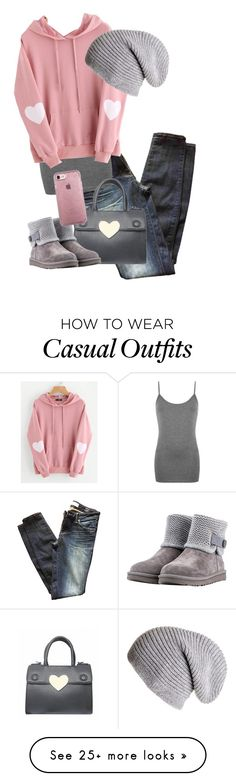 """Cold -n- casual... corazon de melon"" by karen0525 on Polyvore featuring Marc by Marc Jacobs, WearAll, WithChic, UGG, Black, Speck and Hoodies"
