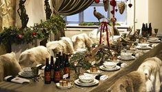 Antlers and Reindeer for a wonderful Christmas decorated table  - From THE ESSENCE OF THE GOOD LIFE™    http://www.pinterest.com/ConceptDesigner/   https://www.facebook.com/pages/The-Essence-of-the-Good-Life/367136923392157