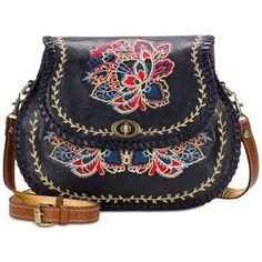 Patricia Nash Provencal Escape Embroidery Arezzo Medium Saddle Bag