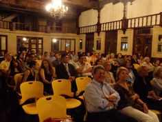 Over 75 people attended the CITY OF SORROWS book presentation at La Casa de Espana.