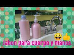 Jabon liquido para cuerpo y manos (hazlo tu mismo) 😀👍 - YouTube