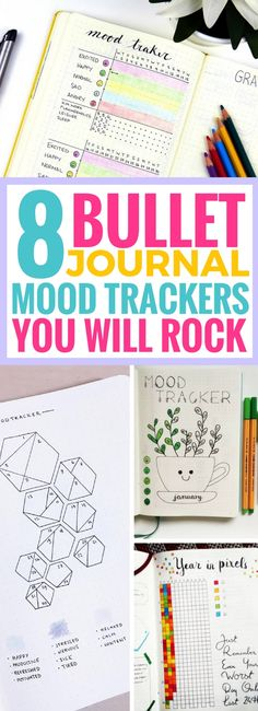 These 8 Bullet Journal Mood Trackers are so AMAZING! I can't wait to start drawing them for my new bujo. Definitely saving these bullet journal ideas!